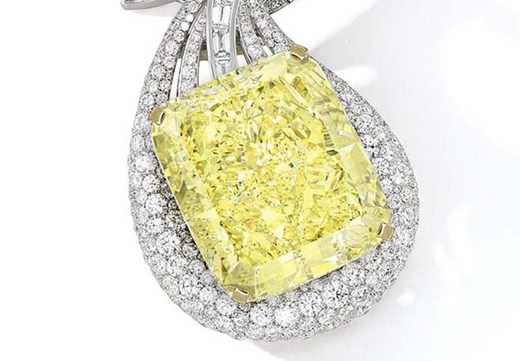100-Carat Yellow Diamond Necklace to Headline Sotheby's Hong Kong Sale