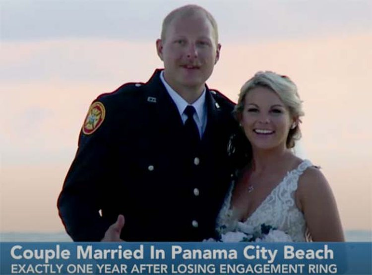 Couple Ties Knot at Same Beach Where Engagement Ring Was Lost a Year Ago